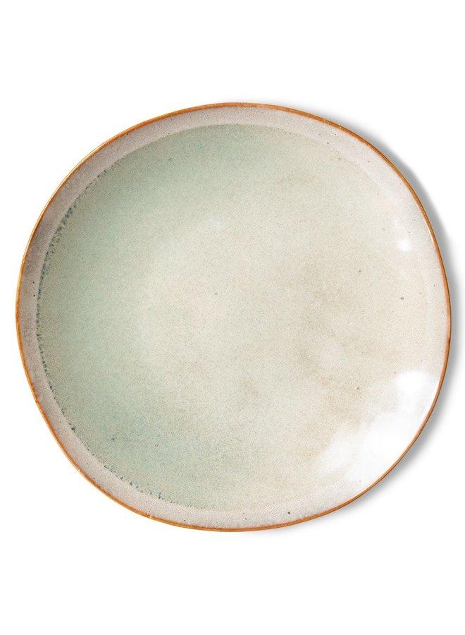 Bord ceramic side plate  70's mist (set of 2)