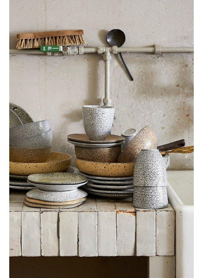 Bord gradient ceramics deep plate cream (set of 2)