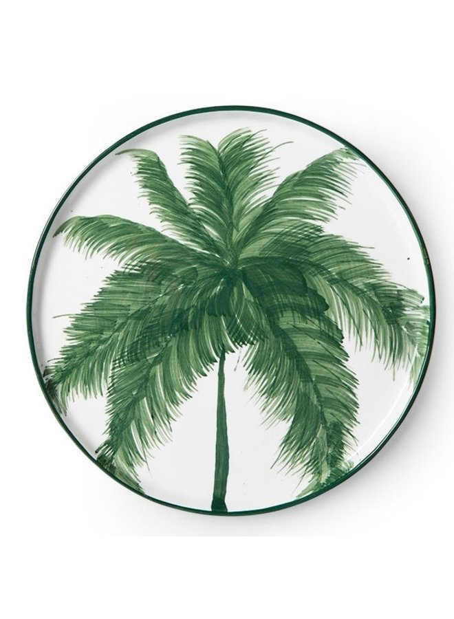 Bord bold&basic ceramics porcelain side plate palms green