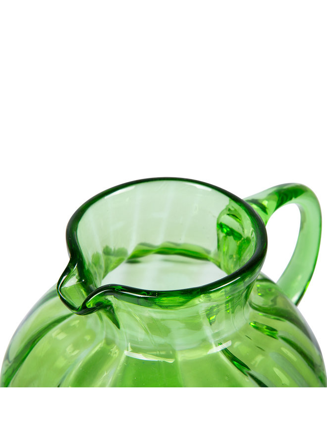 Karaf the emeralds glass jug green