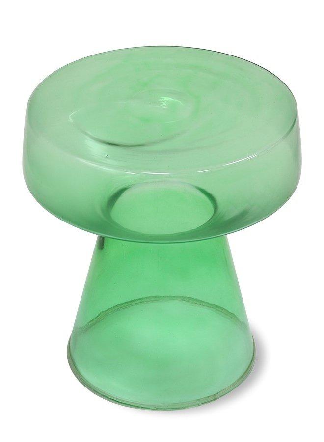 Bijzettafel glass side table green