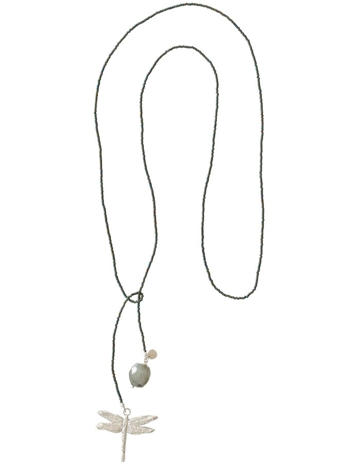 Ketting Nova labradorite silver necklace