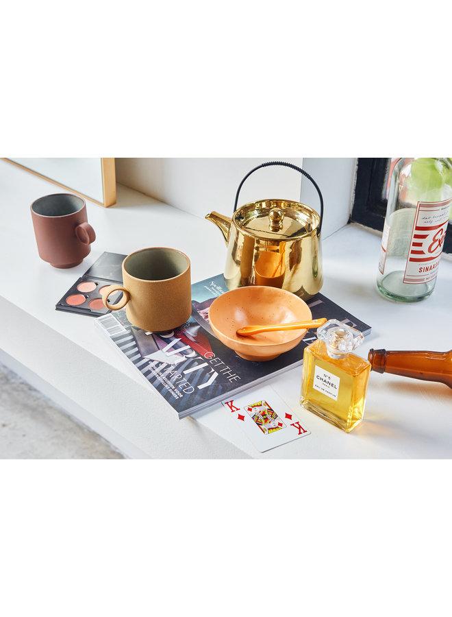 Kom bold & basic ceramics large bowl orange (set of 2)