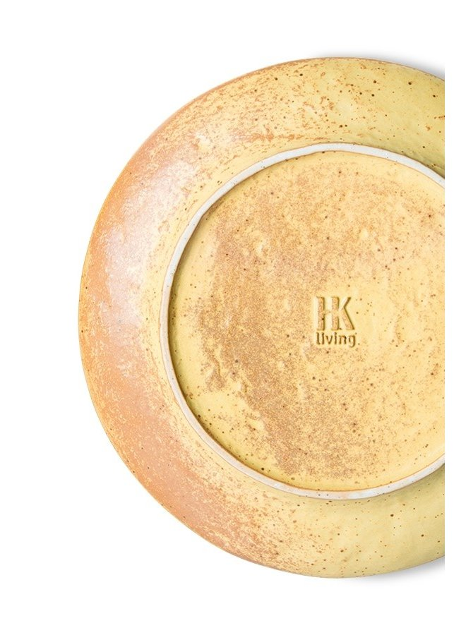 Bord bold&basic ceramics side plate yellow,brown (set of 2)