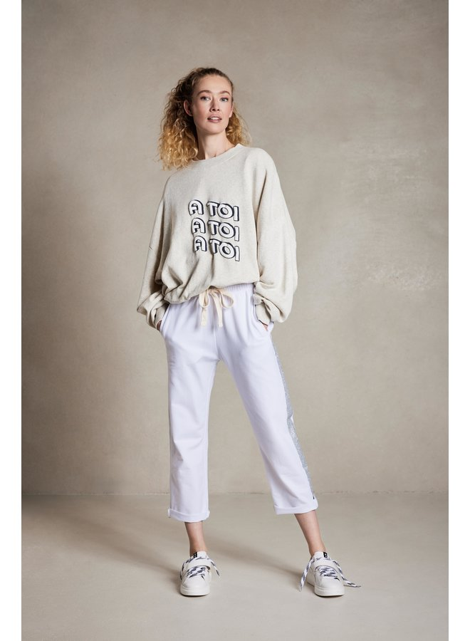Sweater a toi soft white melee