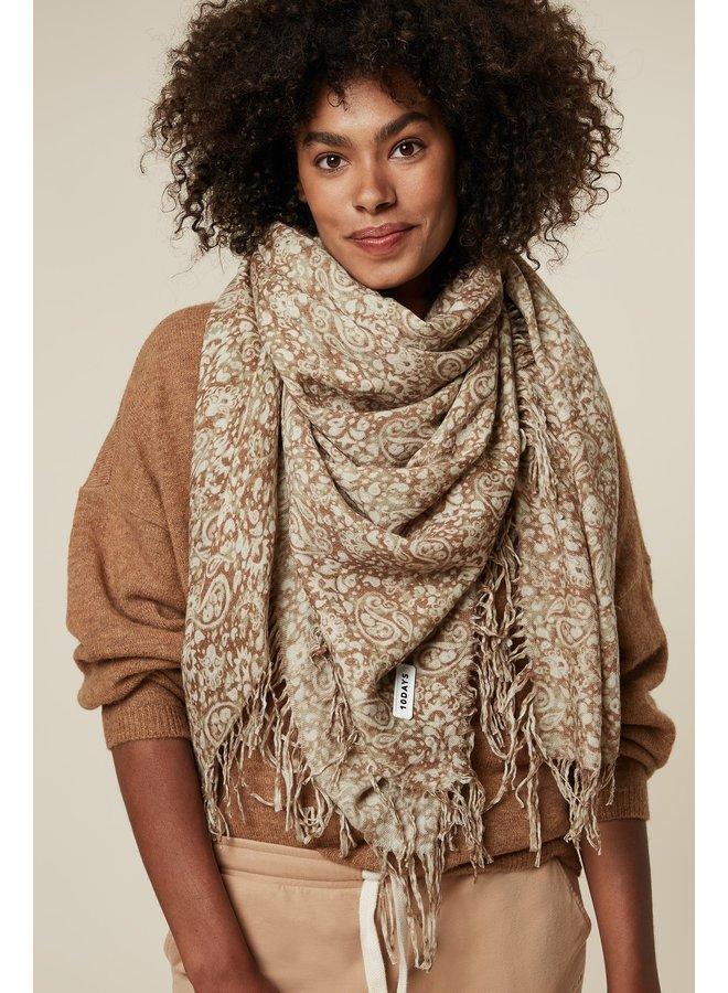 Sjaal scarf paisley wool camel