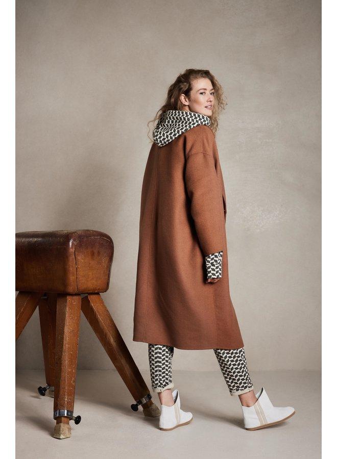 Jas wool coat camel