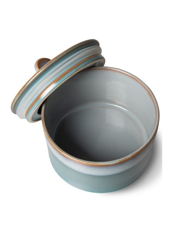 Koektrommel ceramic 70's cookie jar: dusk