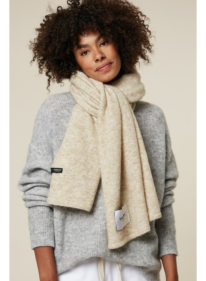 Sjaal soft knit scarf oatmeal