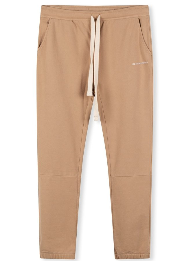 Broek cropped jogger faded camel