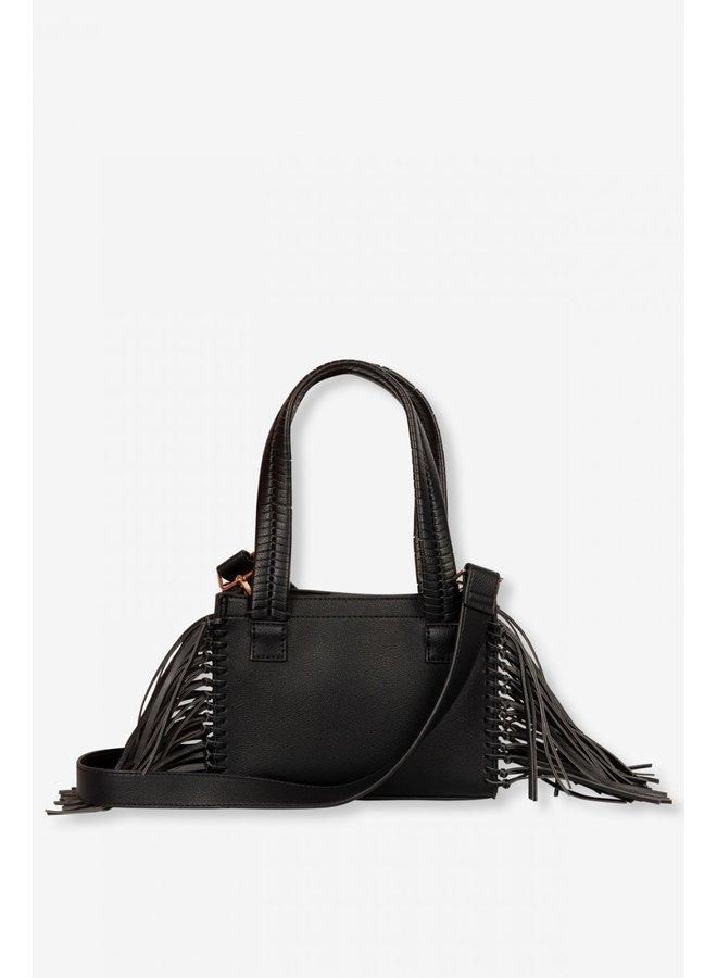 Tas Ladies faux leather LX shoulder bag black