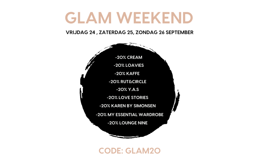 GLAMOURWEEKEND 20% off selected fashion brands