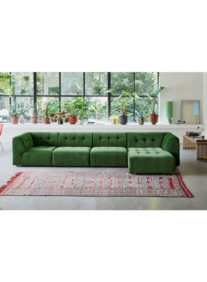 Bank vint couch element middle 1,5-seat royal velvet, green