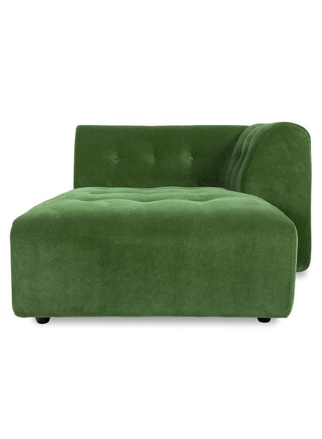 Bank vint couch element right divan royal velvet, green