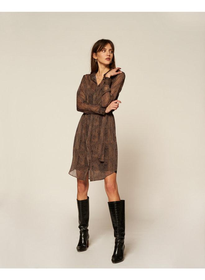 Jurk midi dress Amina black