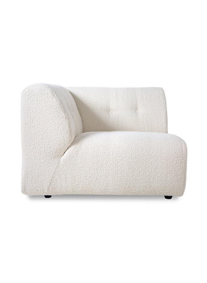 Bank vint couch element left boucle, cream