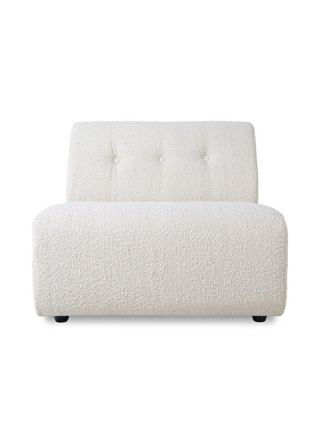 Bank vint couch: element middle, boucle, cream