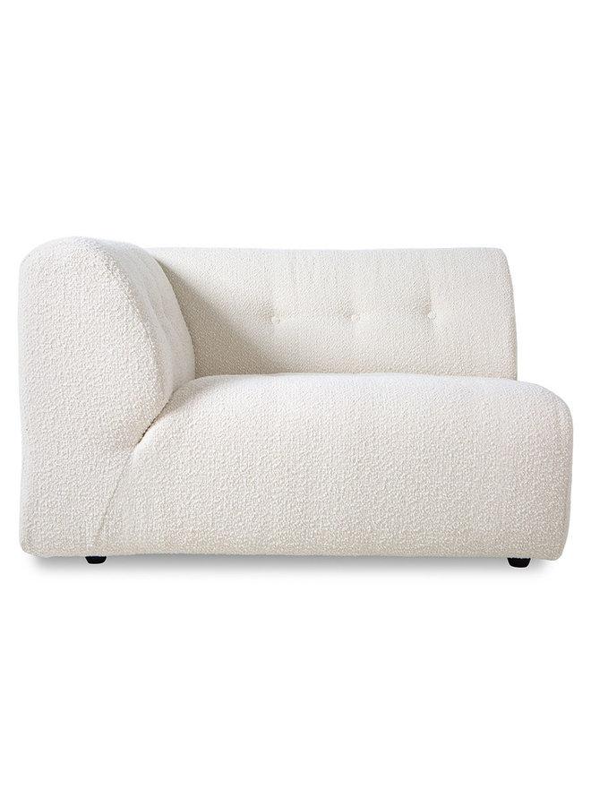 Bank vint couch element left 1,5-seat boucle, cream