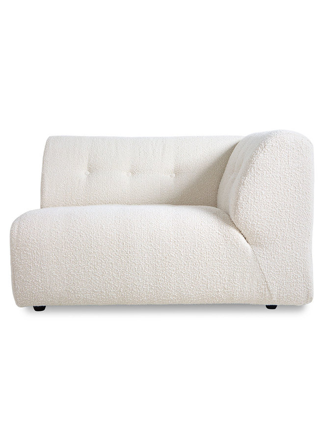 Bank vint couch element right 1,5-seat boucle, cream