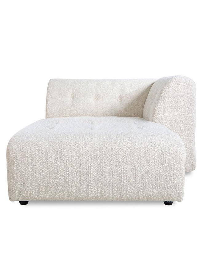 Bank vint couch element right divan, boucle, cream
