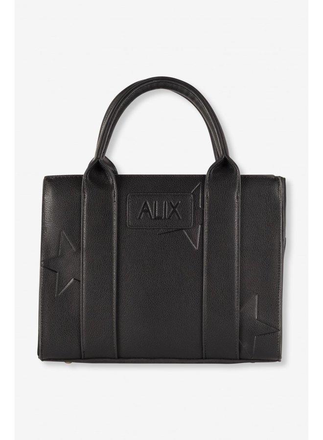 Tas ladies faux leather star bag black