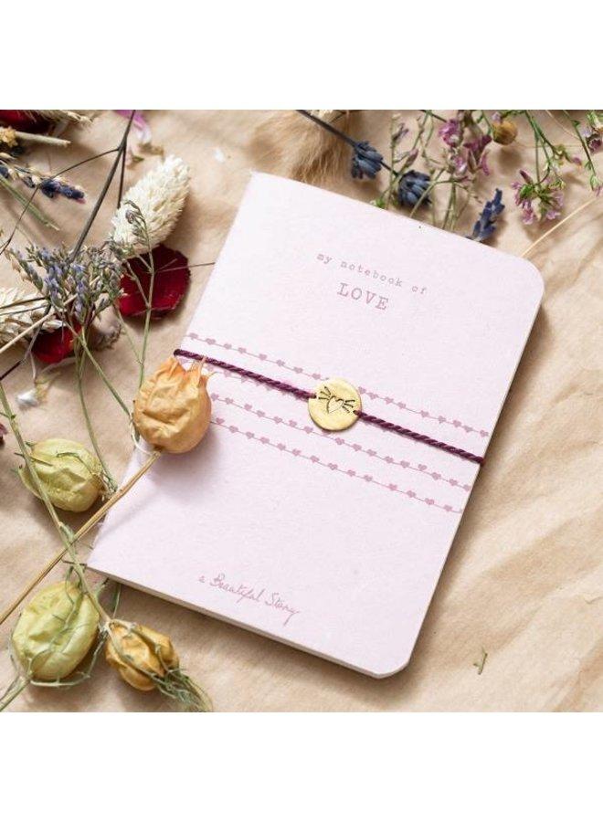 Notitieboekje Storybook love pink