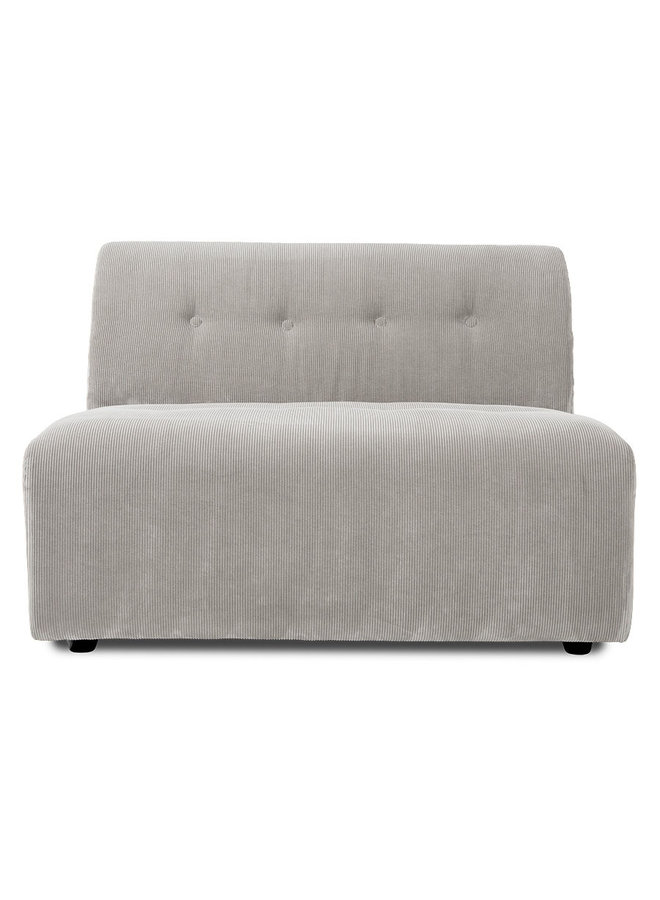 Bank vint couch element middle 1,5-seat corduroy rib, cream