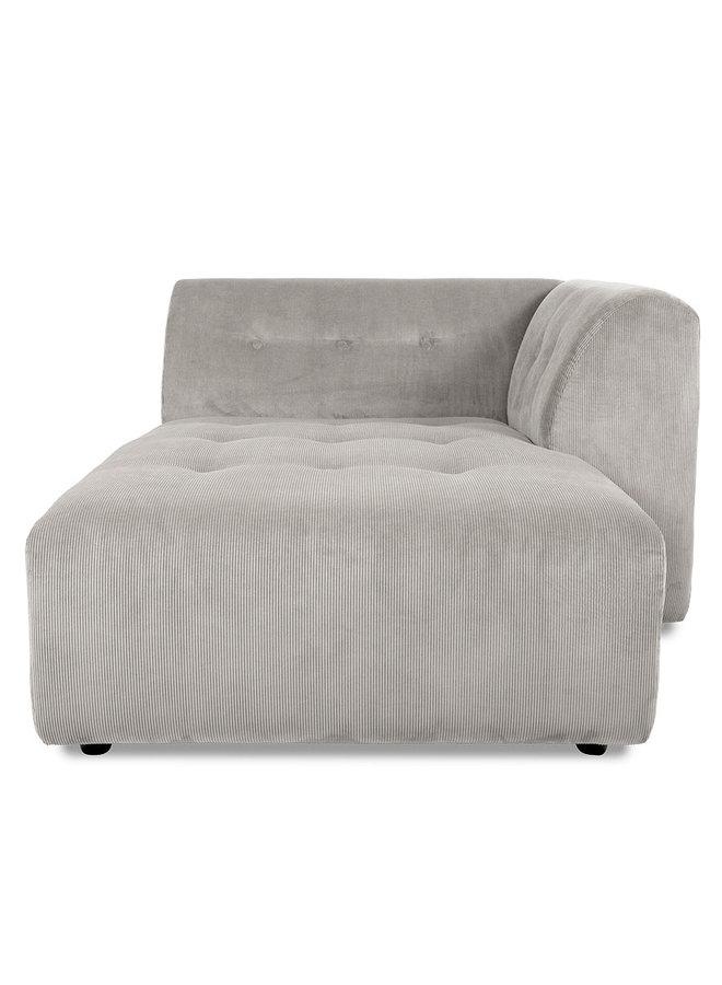 Bank vint couch element right divan, corduroy rib, cream
