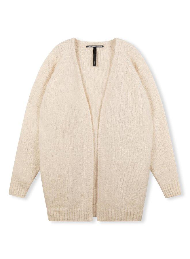 Vest cardigan alpaca soft white melee