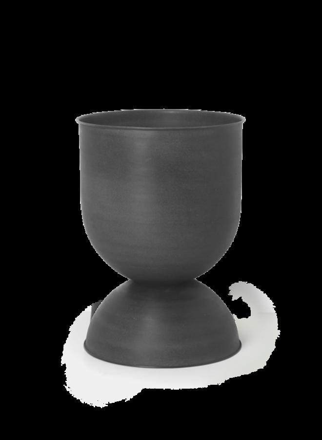 Bloempot Hourglass M black
