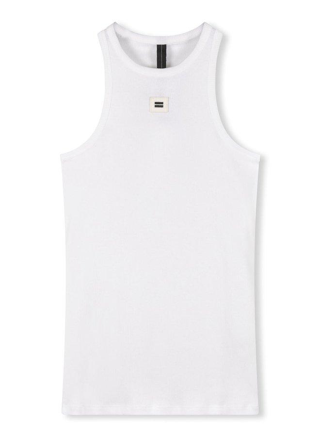 Hemdje tank top rib white