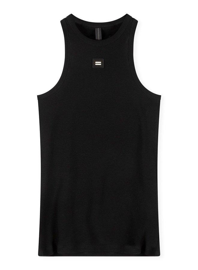 Hemdje tank top rib black