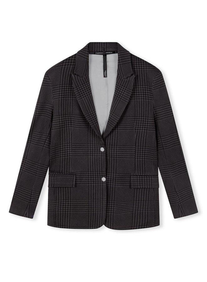Blazer checked blazer almost black