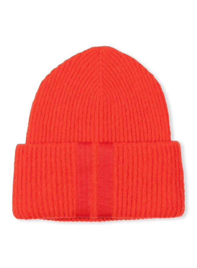 Muts soft knit beanie fluor red