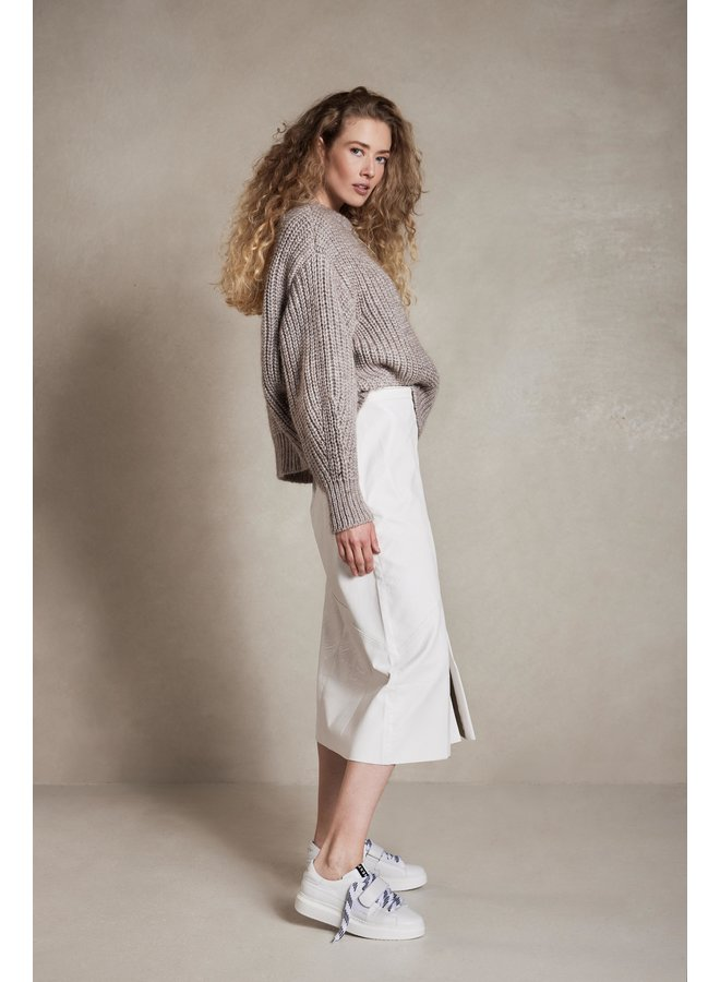 Rok vegan leather skirt ecru