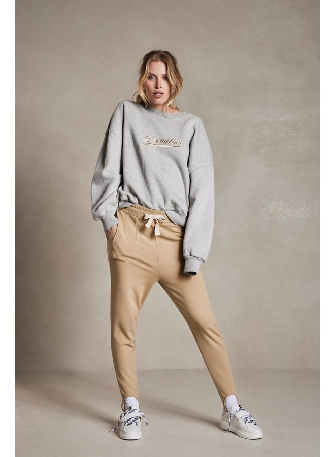 Trui oversized sweater chevalier light grey melee