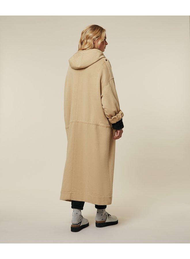 Jas fleece parka jacket camel grey