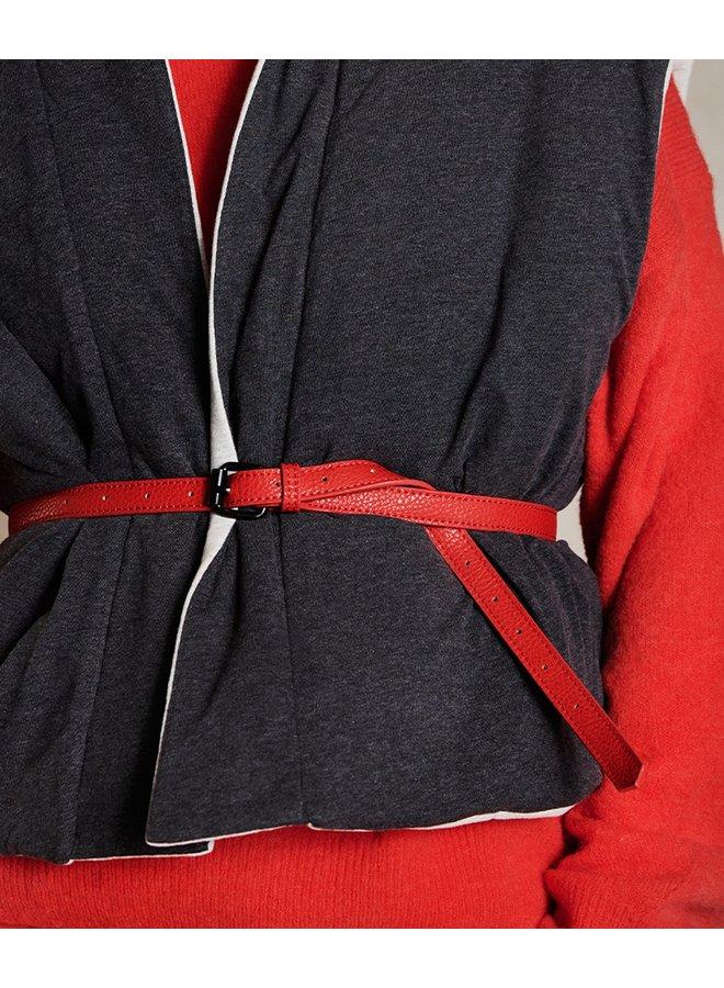 Riem vegan leather belt fluor red ONE SIZE
