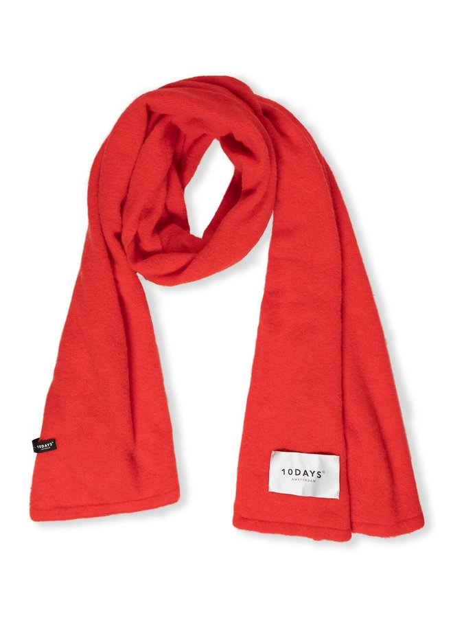 Sjaal soft scarf knit fluor red