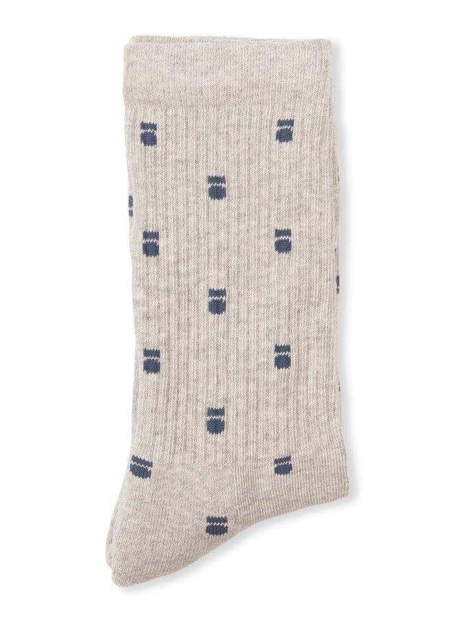 Sokken socks medal ecru
