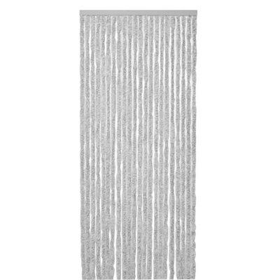 Flauschvorhang Grau - Weiß Mix