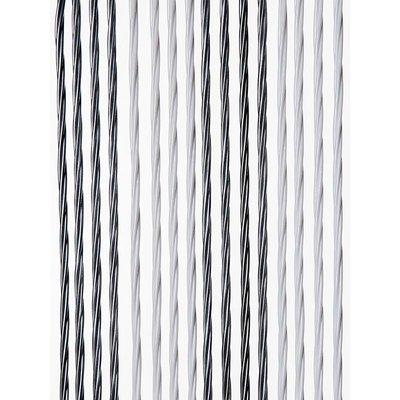 Fliegenvorhang Kunststoff Weich - Grau Silber Duo