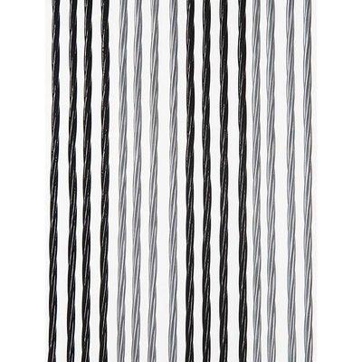 Fliegenvorhang Kunststoff Weich - Schwarz Silber Duo