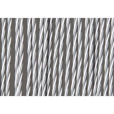 Fliegenvorhang Kunststoff - Weiß Grau
