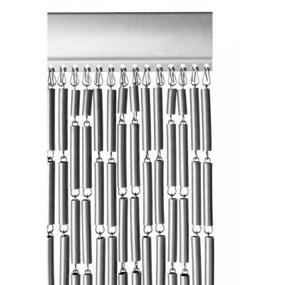 Fliegenvorhang Kunststoff Hülsen - Grau