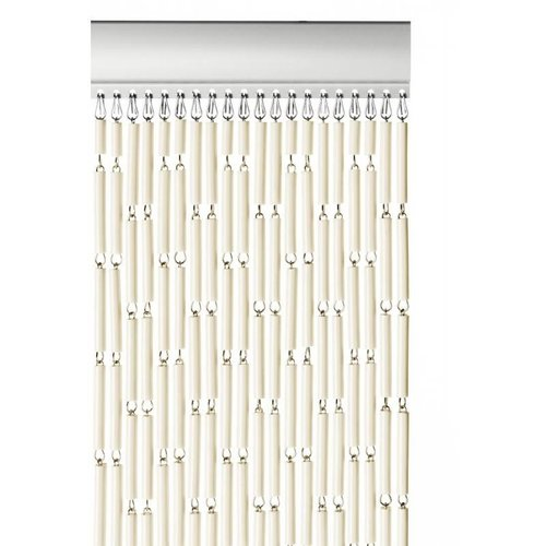 Insektenschutzdirekt.de Fliegenvorhang Kunststoff Hülsen - Ecru