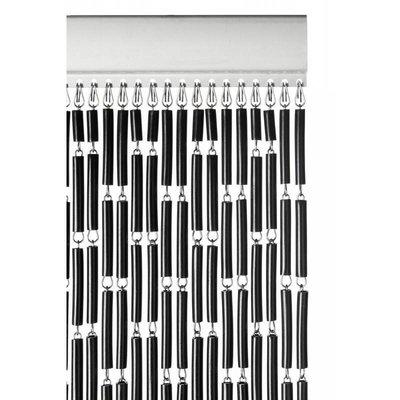 Fliegenvorhang Kunststoff Hülsen - Schwarz