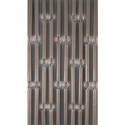 Fliegenvorhang Silber/Metallic Versetzt