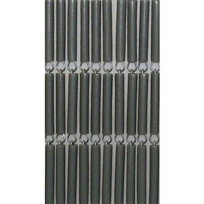 Fliegenvorhang Silber/Metallic Senkrecht