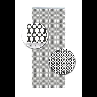 Kettenvorhang Aluminium Schwarz